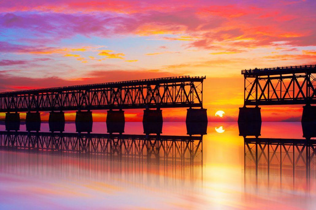 Beautiful colorful sunset or sunris